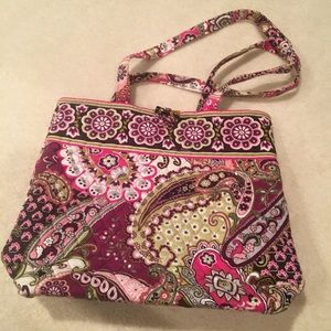 Vera Bradley Pink Paisley Print Tote Bag Purse